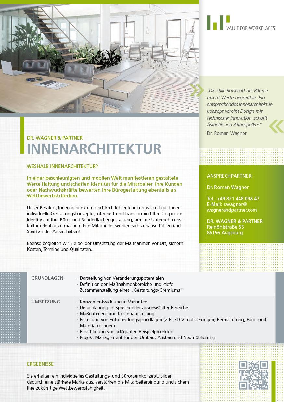 Innenarchitektur Augsburg innenarchitektur dr wagner partner