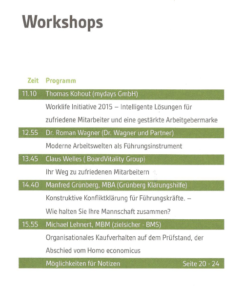 Agenda Workshop dev-com Roman Wagner